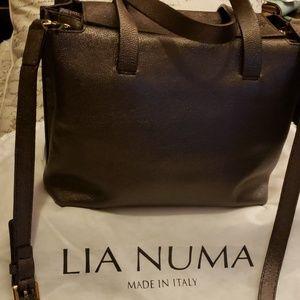 Lia Numa leather 2 way tote bag